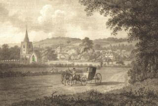Hertford from the London road, 1799
